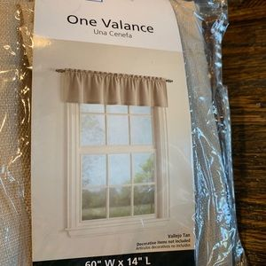 Other - Window Valance 60 x 14 Tan Polyester New